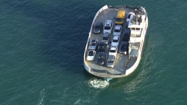 The bodies of two women who were in a vehicle that fell from a ferry Tuesday and sank in a shipping channel have been recovered, authorities said. (WSVN/CNN)