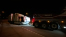 Transport being towed away from the Blue Water Bridge. (Courtesy OPP)