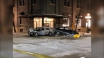 The collision took place in the Old Market Square area. (Source: Alex Brown/CTV News Winnipeg)