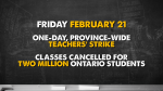 Teacher strike on Friday, February 21