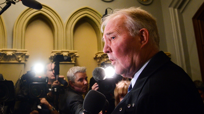 Bill Blair Minister of Public Safety and Emergency Preparedness Bill Blair arrives to a cabinet meeting on Parliament Hill in Ottawa on Thursday, Feb. 20, 2020. THE CANADIAN PRESS/Sean Kilpatrick