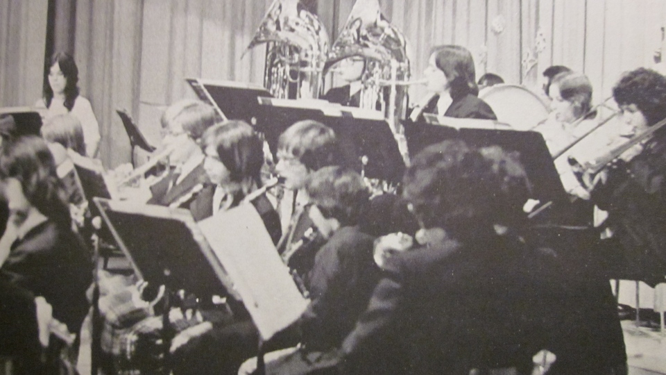 Band  from MacDonald-Cartier yearbook (supplied)