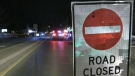 A pedestrian was struck and killed on Victoria Street in Alliston on Wed., Feb. 19, 2020. (David Sullivan/CTV News)