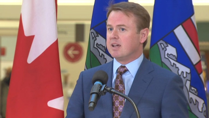 Minister of Health Tyler Shandro at the announcement of upgrades to the Peter Lougheed Centre's emergency department on Feb. 19, 2020