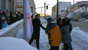 Sunrise flag raising ceremony marks milestone for Kin Canada