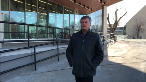 Robert Dowd leaves the Law Courts Thursday Feb. 20, 2020 after winning an appeal of his sexual assault and sexual interference convictions in The Manitoba Court of Appeal. (Source: Josh Crabb/CTV News Winnipeg)