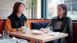 "Tegan and Sara's latest album, ""Hey, I'm Just Like You,"" came from songs they wrote in high school. They decided to re-recorded them using an all-female crew. (W5)"