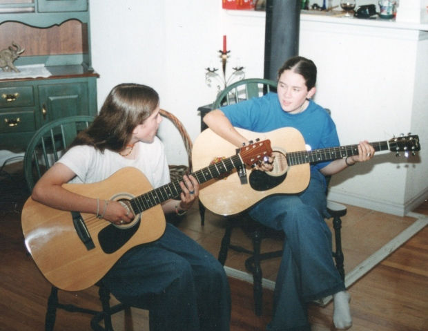 Tegan and Sara performing in Grade 11