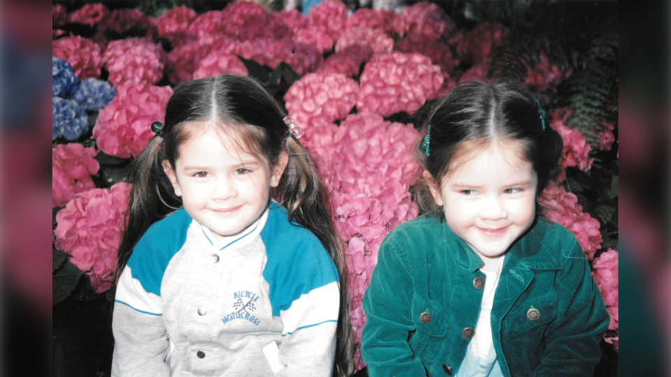 Tegan and Sara at age four