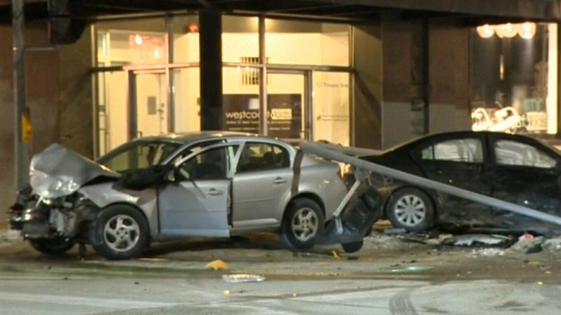Crash sends woman to hospital