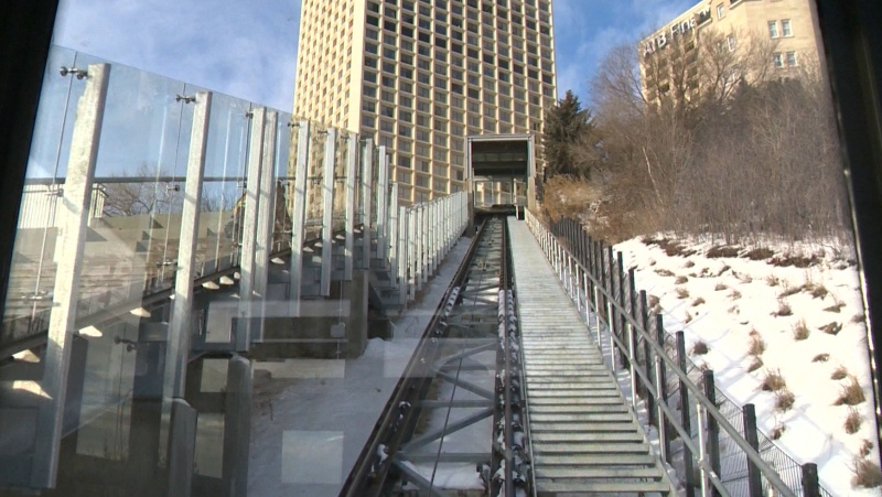 Funicular, winter