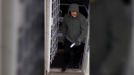 Police say a man in what appears to be a Freddy Krueger mask robbed an Abbotsford marijuana dispensary at gunpoint on Feb. 18, 2020. (Handout)