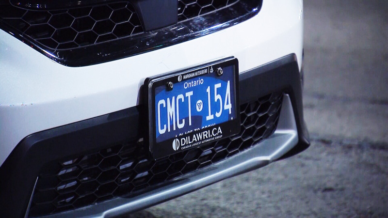 A new Ontario licence plate is seen in this photo. (CTV News Toronto)