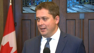 Tory Leader Andrew Scheer discusses blockades