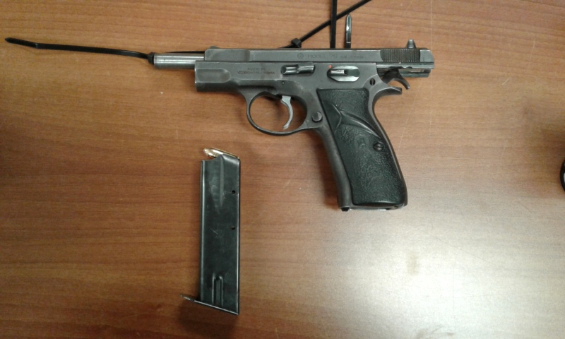 The man was later released on a court document related to the firearm offences and the female was released unconditionally. (RCMP)