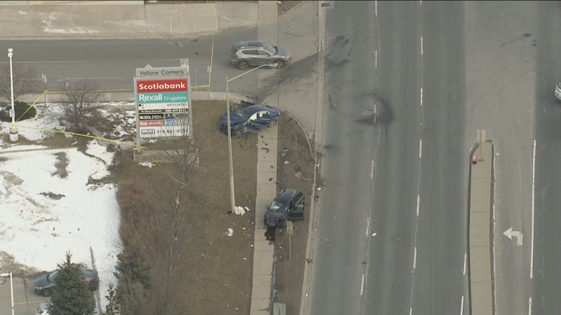 York Regional Police are investigating a serious collision in Vaughan that sent four people to hospital.