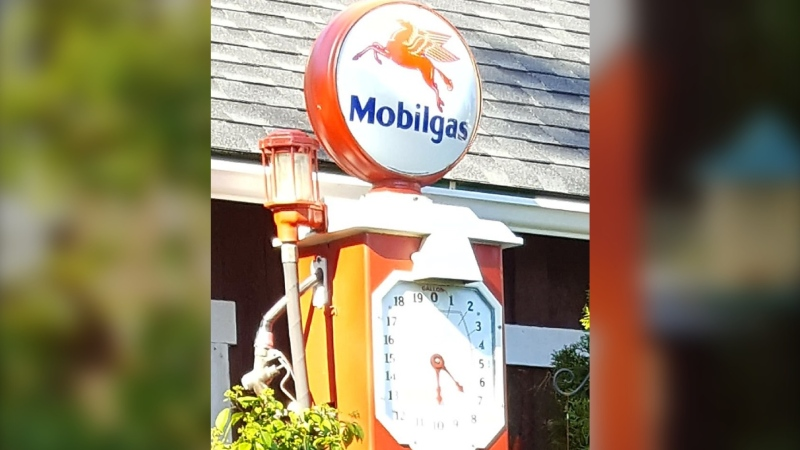 It's bright orange, stands more than six feet tall, and - as of earlier this month - it's gone missing from a Vancouver Island backyard. (North Cowichan/Duncan RCMP)