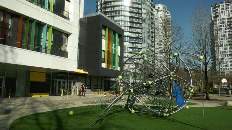 Crosstown Elementary is pictured in Vancouver on Thursday, Feb. 20, 2020.