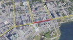 Construction will ramp up on Dunlop Street in March between Owen and Mulcaster streets.