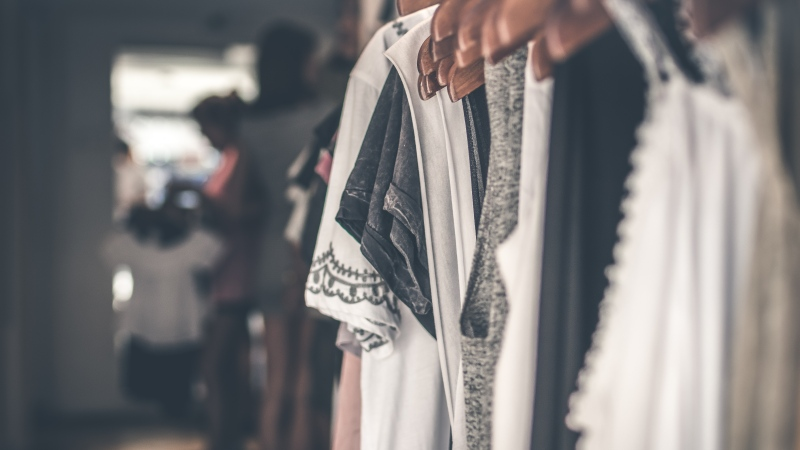 A file image of clothes on a rack (Artem Beliaikin/Pexels)