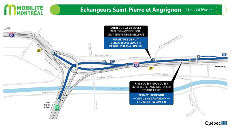 Highway 20 closures, Feb. 21 to 24.