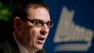 """Whether we ban fighting outright or simply impose stricter penalties for fighting, those were the elements that made our debate very nuanced today,"" said QMJHL commissioner Gilles Courteau. ""It's been a long time since we've had a discussion like that. (THE CANADIAN PRESS/Peter McCabe)"