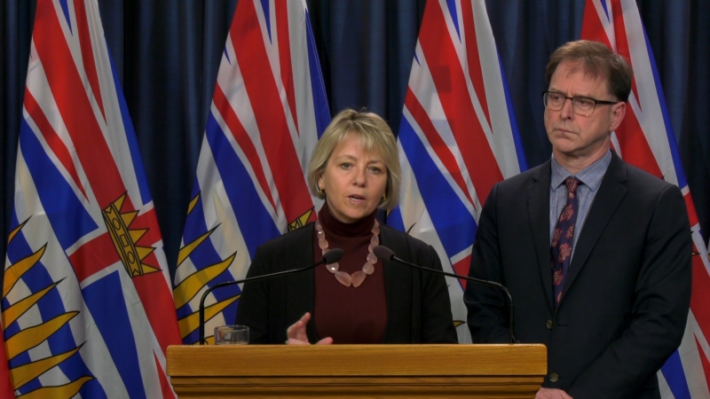Minister of Health Adrian Dix and Provincial Health Officer Dr. Bonnie Henry announced the case to reporters at the provincial legislature a day earlier than their regularly scheduled update on the virus. (CTV)