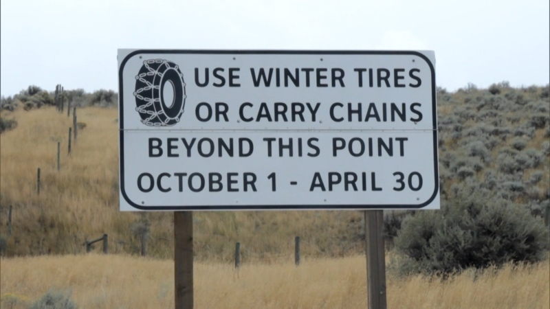 B.C. Minister of Transportation Claire Trevena said tires with the mud-and-snow and mountain snowflake symbols are both considered winter tires. (CTV)