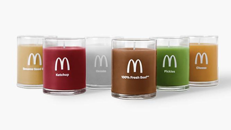 McDonald's six candles come in all the flavors you'd expect. (Golden Arches Unlimited/CNN)
