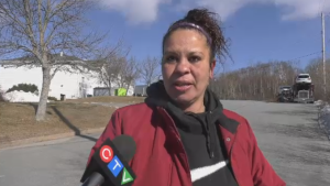 Rebecca Sparks is one of about 20 people on social assistance who have been told they need to leave the Travelodge in Dartmouth, N.S., by noon on Feb. 21, 2020.