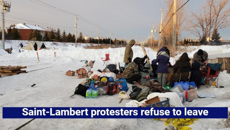 Saint-Lambert protesters refuse to leave.