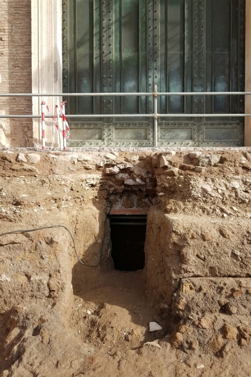 The chamber leading to an ancient tomb thought to belong to Rome's founder Romulus. AFP.