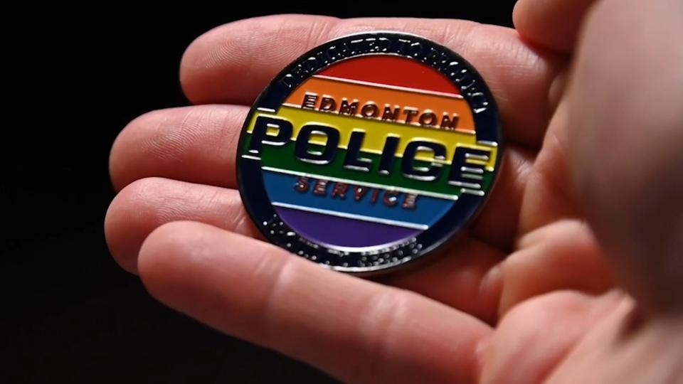 EPS logo, pride colours