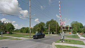 Waterloo Street Rail Crossing (Google Maps)