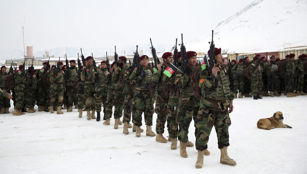 Afghan Army commandos attend a graduation ceremony