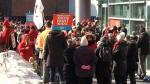 Teachers rally across the province