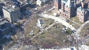 Teachers strike outside Ont. legislature building