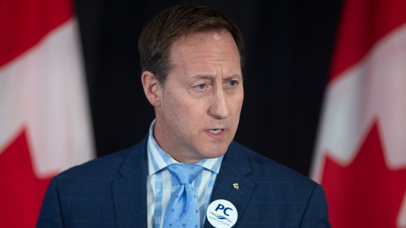 Peter MacKay addresses the crowd at a federal Conservative leadership forum during the annual general meeting of the Nova Scotia Progressive Conservative party in Halifax on Saturday, February 8, 2020. THE CANADIAN PRESS/Andrew Vaughan