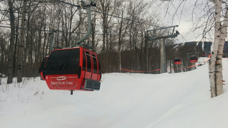 Gondolas at the Mont-Sainte-Anne ski resort. (Photo: Samuel Pouliot/CTV News Montreal)