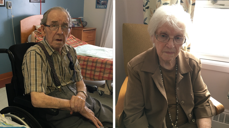 Rheal and Bertha Levesque have been married for 68 years, but have been forced to live apart for the past 13 months in separate long-term care facilities. (Supplied)