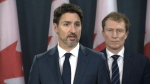 Prime Minister Justin Trudeau makes an address on ongoing blockades, Friday, Feb. 21, 2020.
