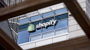 The Ottawa headquarters of Canadian e-commerce company Shopify are pictured on May 29, 2019. Shopify Inc. shares soared as gains in subscriber revenue powered strong second-quarter results that blew past analysts' expectations. THE CANADIAN PRESS/Justin Tang