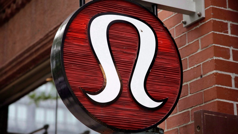 This Monday, June 5, 2017, photo, shows a Lululemon Athletica logo outside a store on Newbury Street in Boston. THE CANADIAN PRESS/AP/Steven Senne)