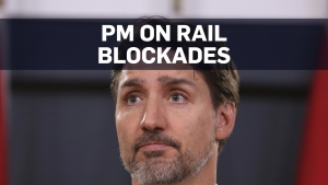 PM Trudeau calls for end of rail blockades across