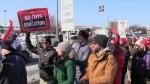 Educators hold massive province-wide strike