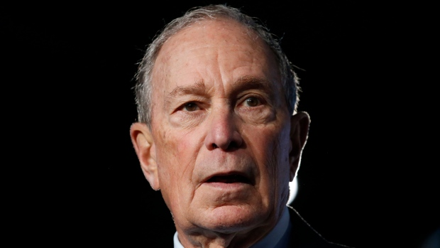 Democratic presidential candidate and former New York City Mayor Mike Bloomberg speaks during a campaign event, Thursday, Feb. 20, 2020, in Salt Lake City. (AP Photo / Rick Bowmer)