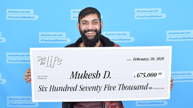 Mukesh Dutt won $675,000 with a scratch and win ticket his mother-in-law gave him for Valentine's Day. (BCLC)
