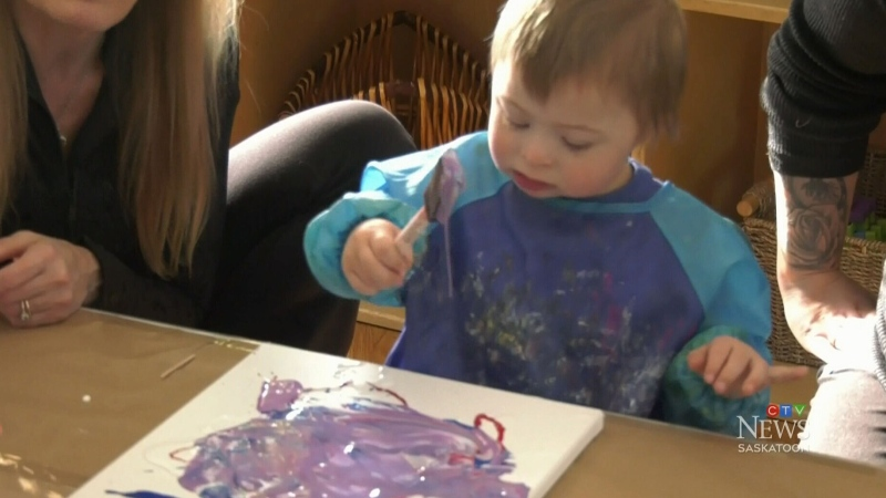 Boy makes difference with paintings