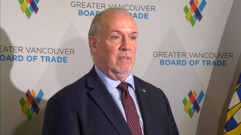 John Horgan speaks about condo insurance