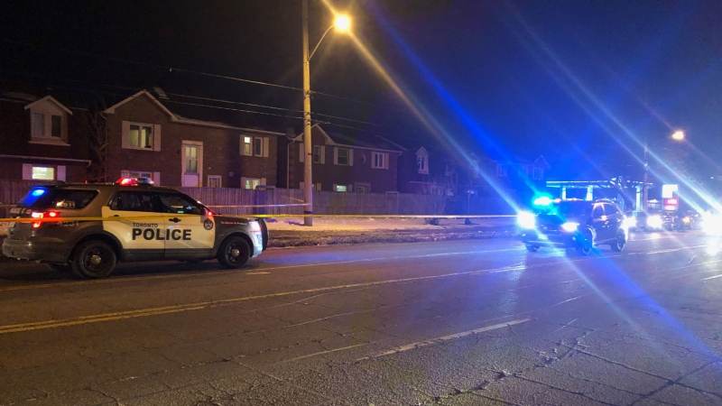 Police are investigating a death in Scarborough near Sheppard Avenue East and Havenview Road on Feb. 21, 2020. (Beth Macdonell/CTV News Toronto)